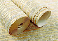Golden And Gray Sandstone Particle Modern Removable Wallpaper Bedroom Striped Wallpaper