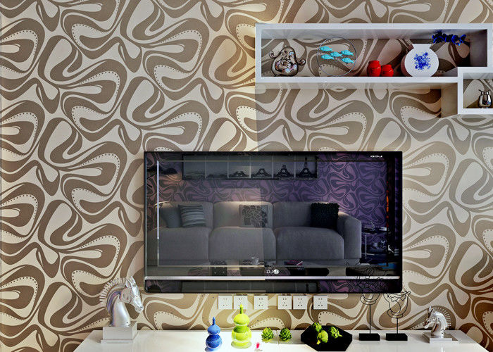 Champagne Foam Modern Removable Wallpaper With Geometric Pattern