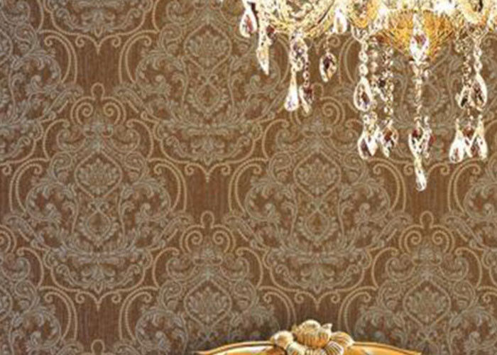 Embossed 1.06m Korean Wallpaper / Soundproof Living Room Modern Wallpaper , Country Style
