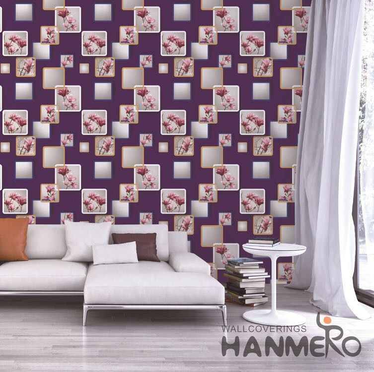 European Modern 3D Home Wallpaper For Bedroom Walls SGS CE Certificate